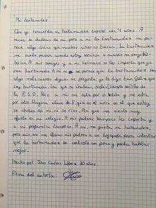 L'emotiva carta viral d'un nen de 10 anys sobre la seva quequesa